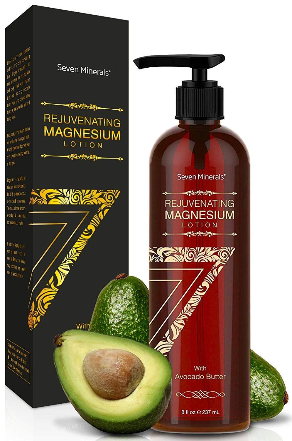NEW Rejuvenating Magnesium Body Lotion - Healthy Daily Moisturizer - NO Endocrine Disruptors. A Total Skin Spa With Silky Avocado Butter, Anti-Aging Royal Jelly, Organic Essential Oils & More! by Seven Minerals