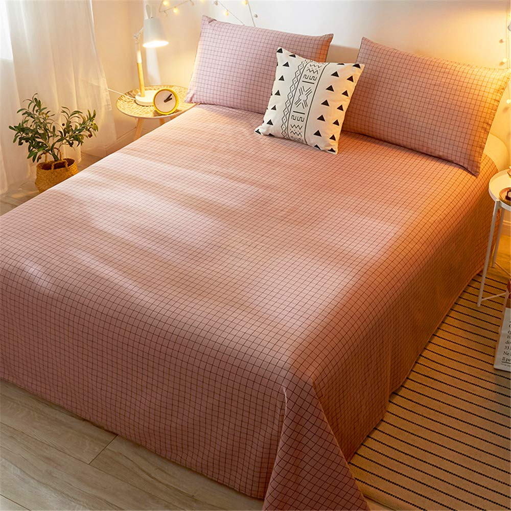 Cotton Sheets Single-Piece Student Dormitory Single Summer Cotton Quilt Single Double Nordic Girl ins Wind Soft and Comfortable Skin-Friendly Breathable Passenger Star 200230cm by iangbaoyo