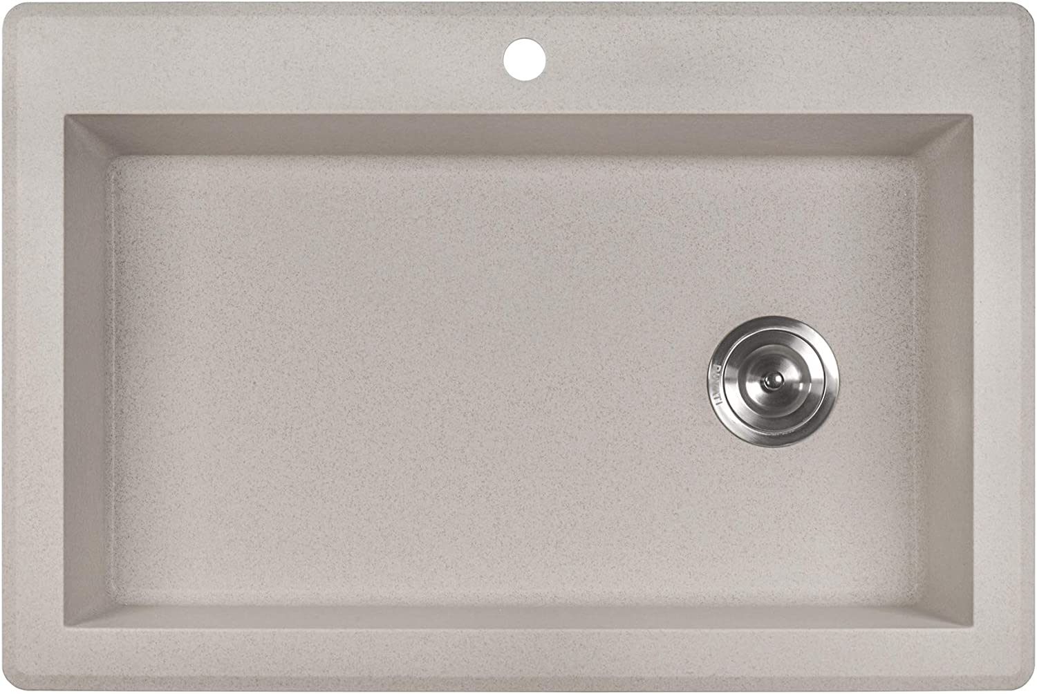 Ruvati 33 X 22 Inch Drop In Topmount Granite Composite Single Bowl Kitchen Sink Caribbean Sand Rvg1033cs