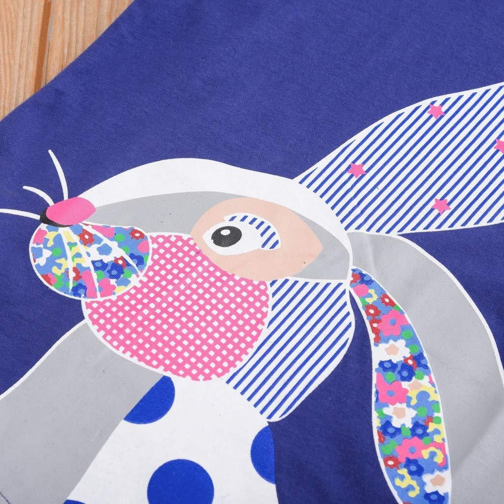Tensay Toddler Kids Baby Boys Girls Cartoon Easter Short Sleeve Tops T-Shirt Blouse Clothes