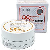 Petitfée - 98% Collagen & Coenzyme Q10 Hydro Gel Eye Essence Patch for men and woman - 60 x Pieces - Skin Care with Collagen, Aloe Vera, Green Tea and Co Q10 - Facial Care for dry skin