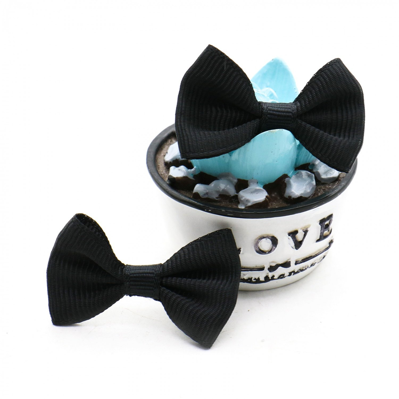 Black Rugjut 30pc DIY Satin Ribbon Mini Bow Tie Bows Ribbon Bows Mini Mixed Embellishment Craft Artificial Applique Wedding