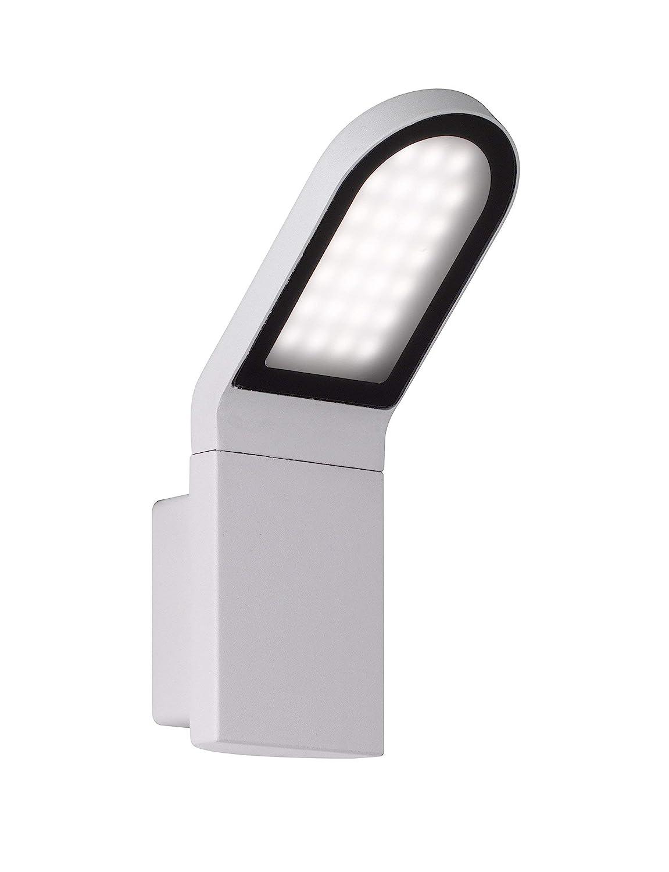 WOFI LED Outdoor Newark Außenleuchte, Aluminium, 9.5 W, hellgrau