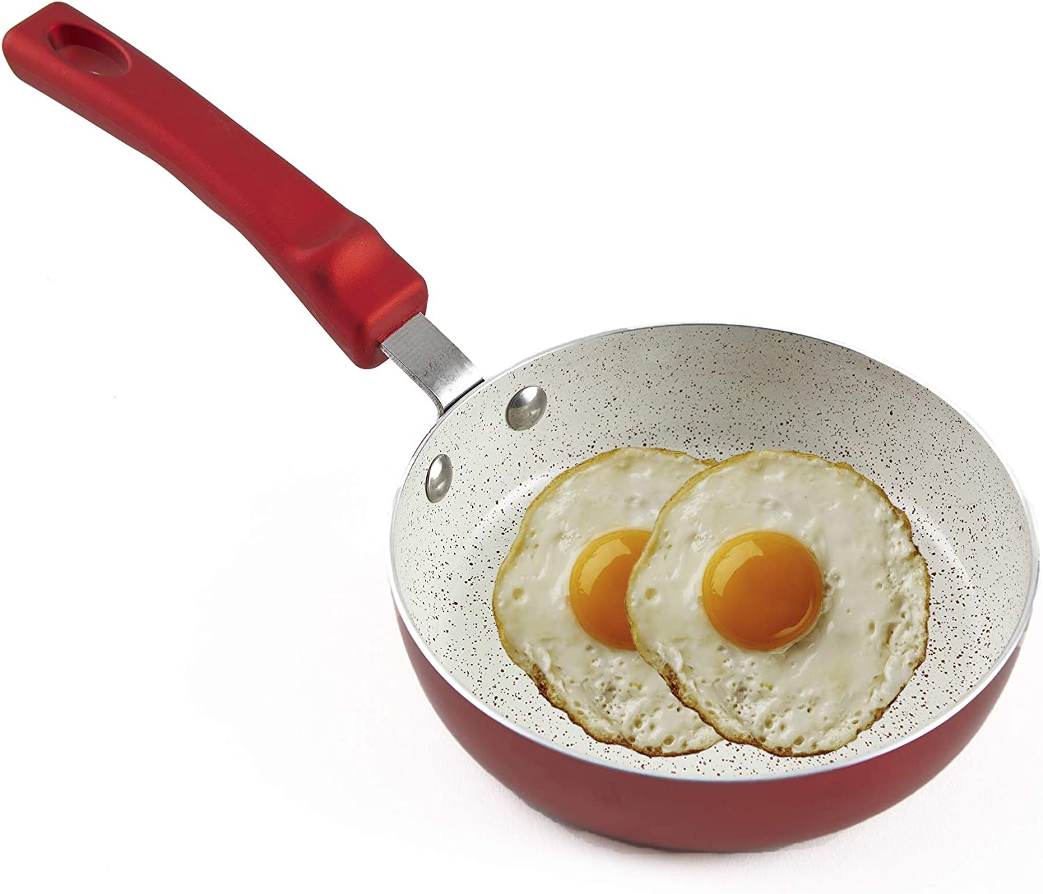 IMUSA USA IMU-25092 8 Nonstick Ruby Red Fry Pan with Soft Touch Handle