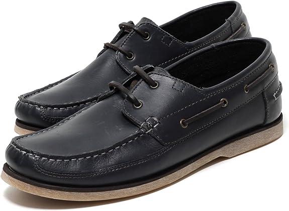 Zapato Herren Leder Mokassins in Navy Gr. 42 45
