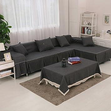 Amazon.com: Solid Color Combination Sofa Cover,Multi-Size ...