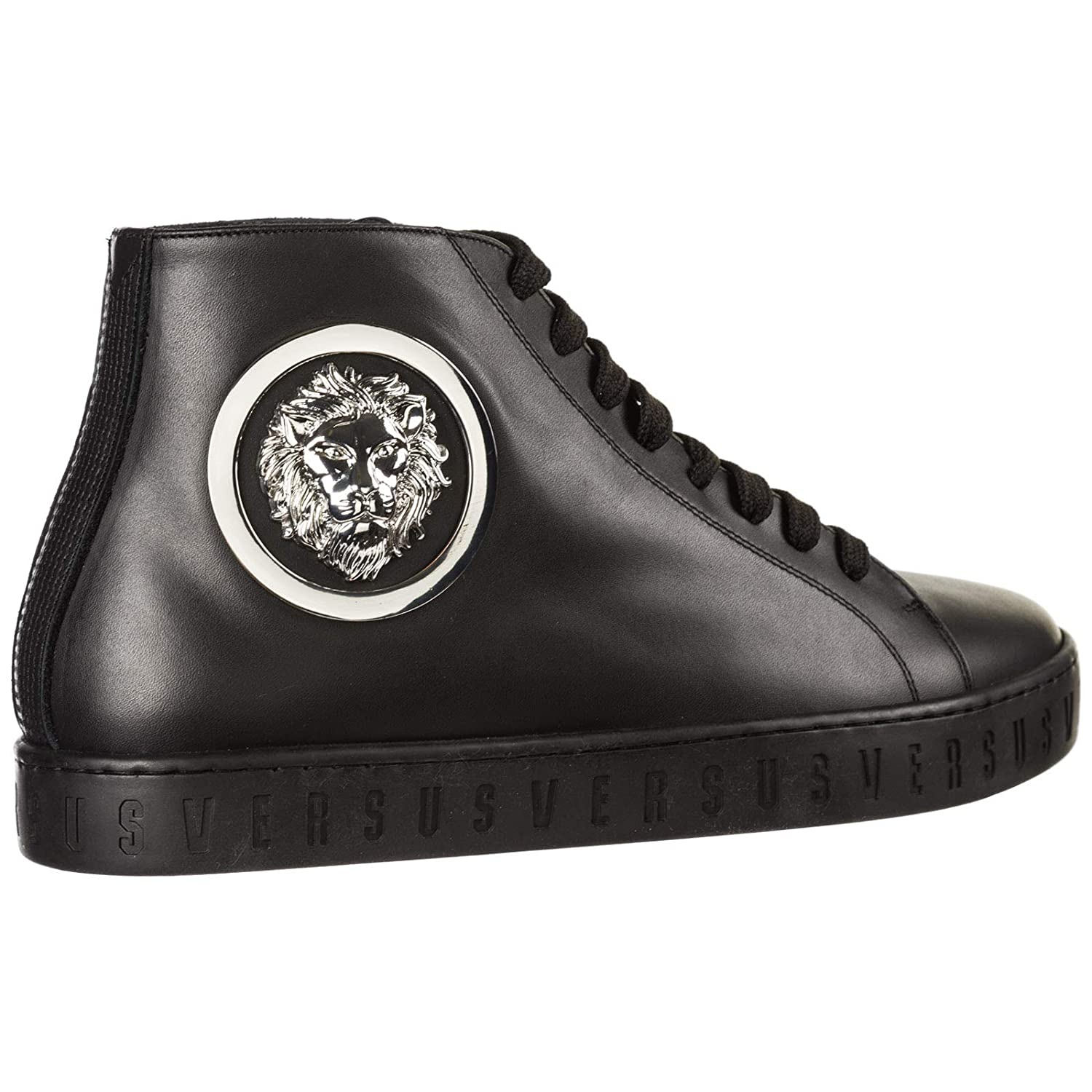 Amazon.com | Versus Versace Men Lion Head high-top Sneakers ...