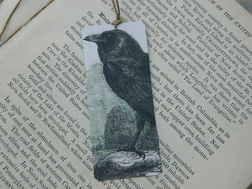 Raven bookmark Edgar Allan Poe Art bookmark metal bookmark