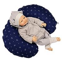 Sharlene Stillkissen aus Baumwolle mit Bezug - Schadstoffgeprüftes Lagerungskissen - Mikro-Perlen Baby Kissen - Seitenschläferkissen in versch. Farben