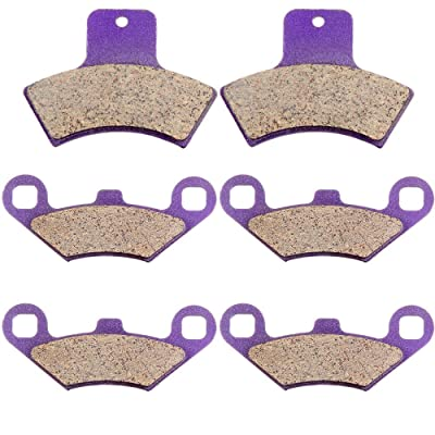 Carbon Fiber Brake Pads ECCPP Motorcycle Replacement Front and Rear Braking Pads Kits Set for 1998-2002 POLARIS 500 Sportsman Worker RSE EBS: Automotive