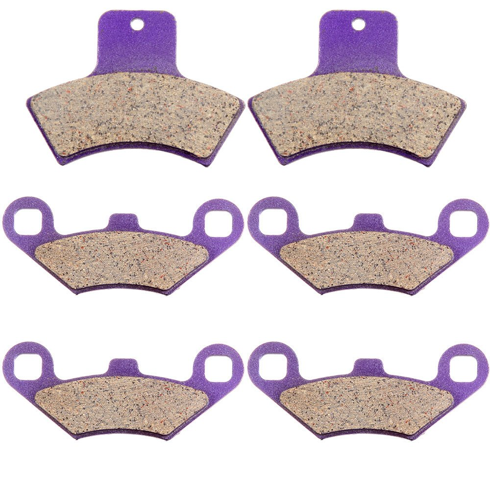 SCITOO Front and Rear Kevlar Carbon Brake Pads Fits 1998-2002 POLARIS 500 Sportsman Worker RSE EBS