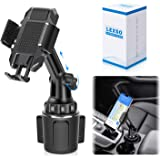 Car Cup Holder Phone Mount,Cup Holder Cradle Car Mount for Cell Phone Universal Adjustable iPhone Xs Max/X/11/8/7 Plus…