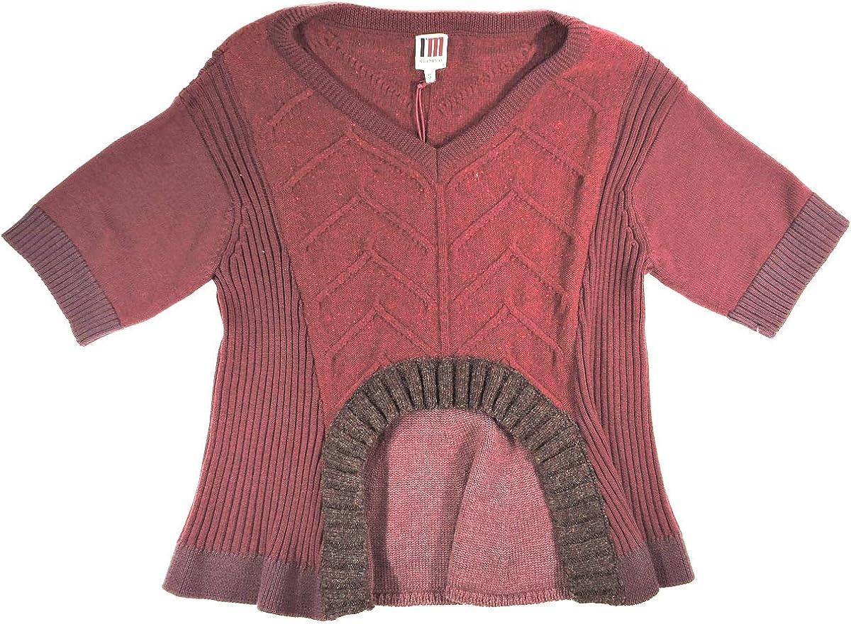 Isola Marras Womens Bordeaux Wool Sweater