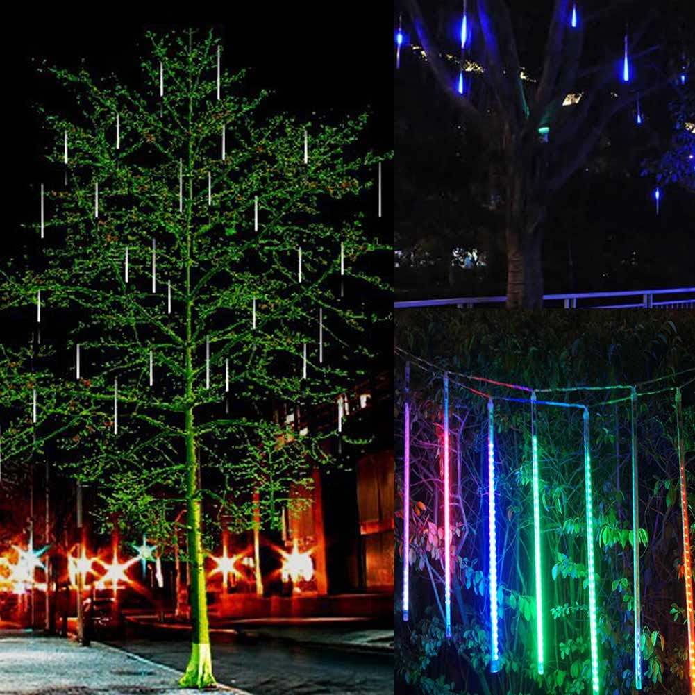 Your Supermart LED Meteor Shower Rain Lights Falling Rain Drop Christmas Light 2835 LED String Light W/US Set Waterproof Cascading lights for Holiday Party Wedding Christmas