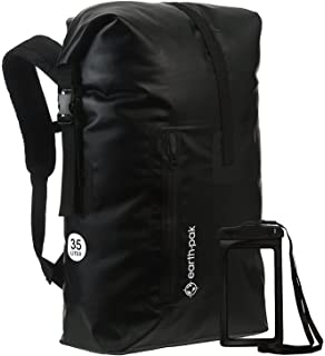 d424fc4062 Earth Pak Waterproof Backpack  35L Heavy Duty Roll-Top Closure with Easy  Access Front
