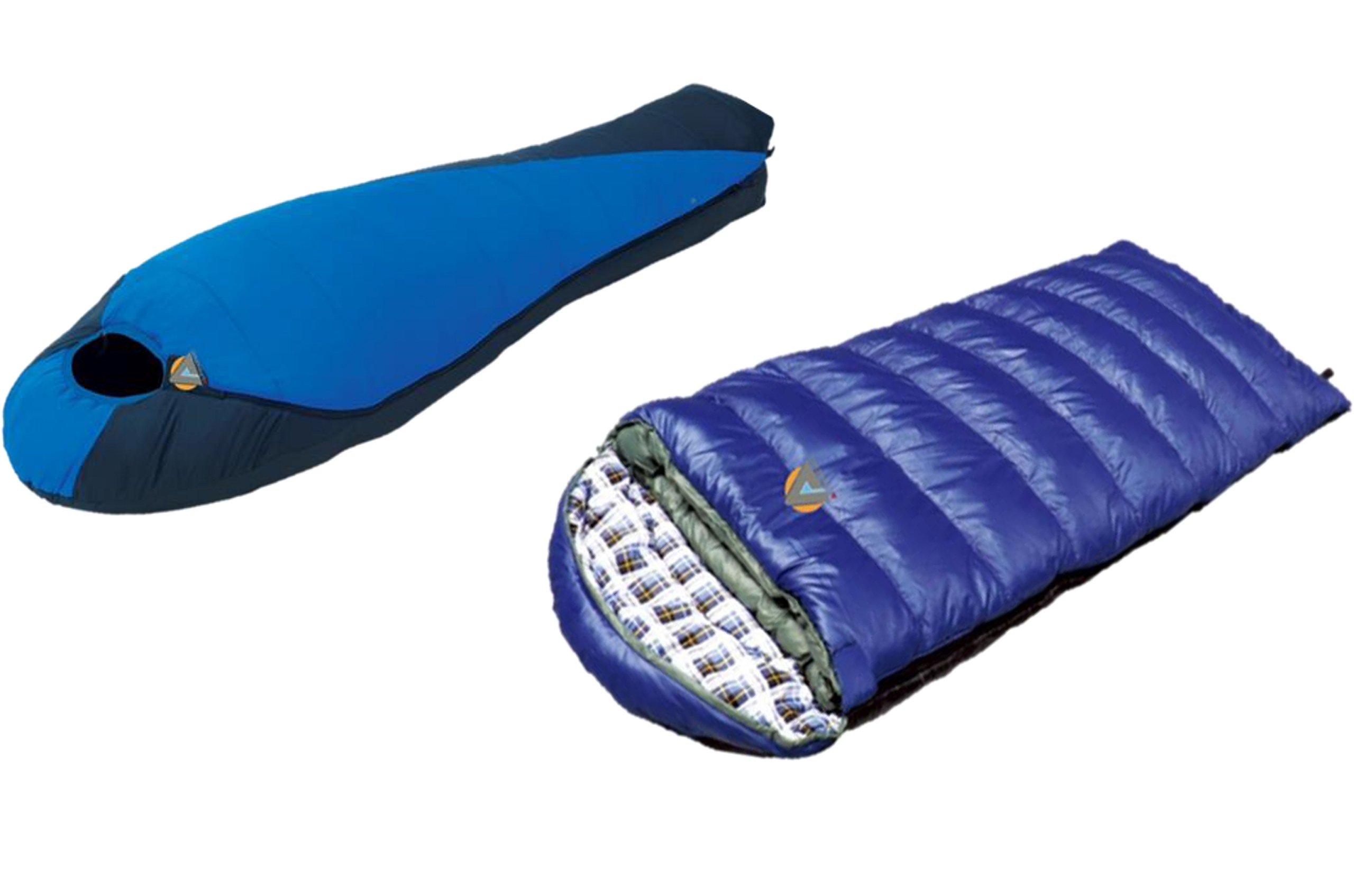 High Peak USA Alpinizmo Lite Weight Extreme Pak 0F + Kodiak 0F Sleeping Bag Combo Set, Blue, One Size by Alpinizmo