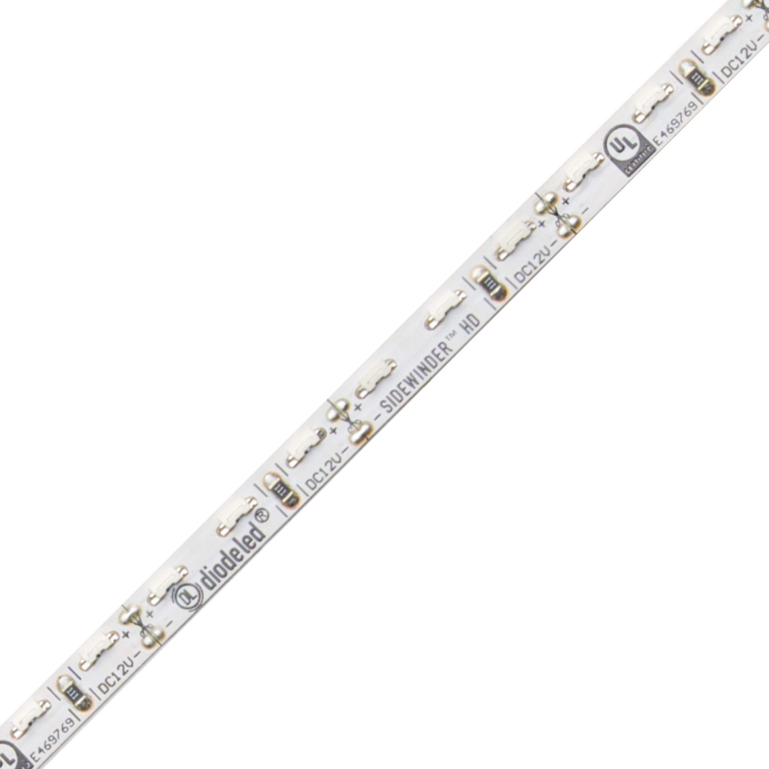 Diode LED Sidewinder High Density 12V LED Tape Light 70 CRI 3000K 16.4ft 2.88W/ft
