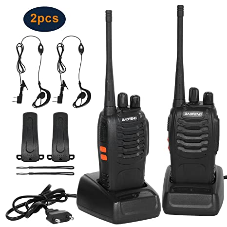 Walkie Talkie Recargables 1500mAh,Walkies Talkies Profesionales 16 Canales CTCSS DCS,WalkieTalkie Radios PMR Distancia 6KM,Frecuencias 400-470MHz para ...