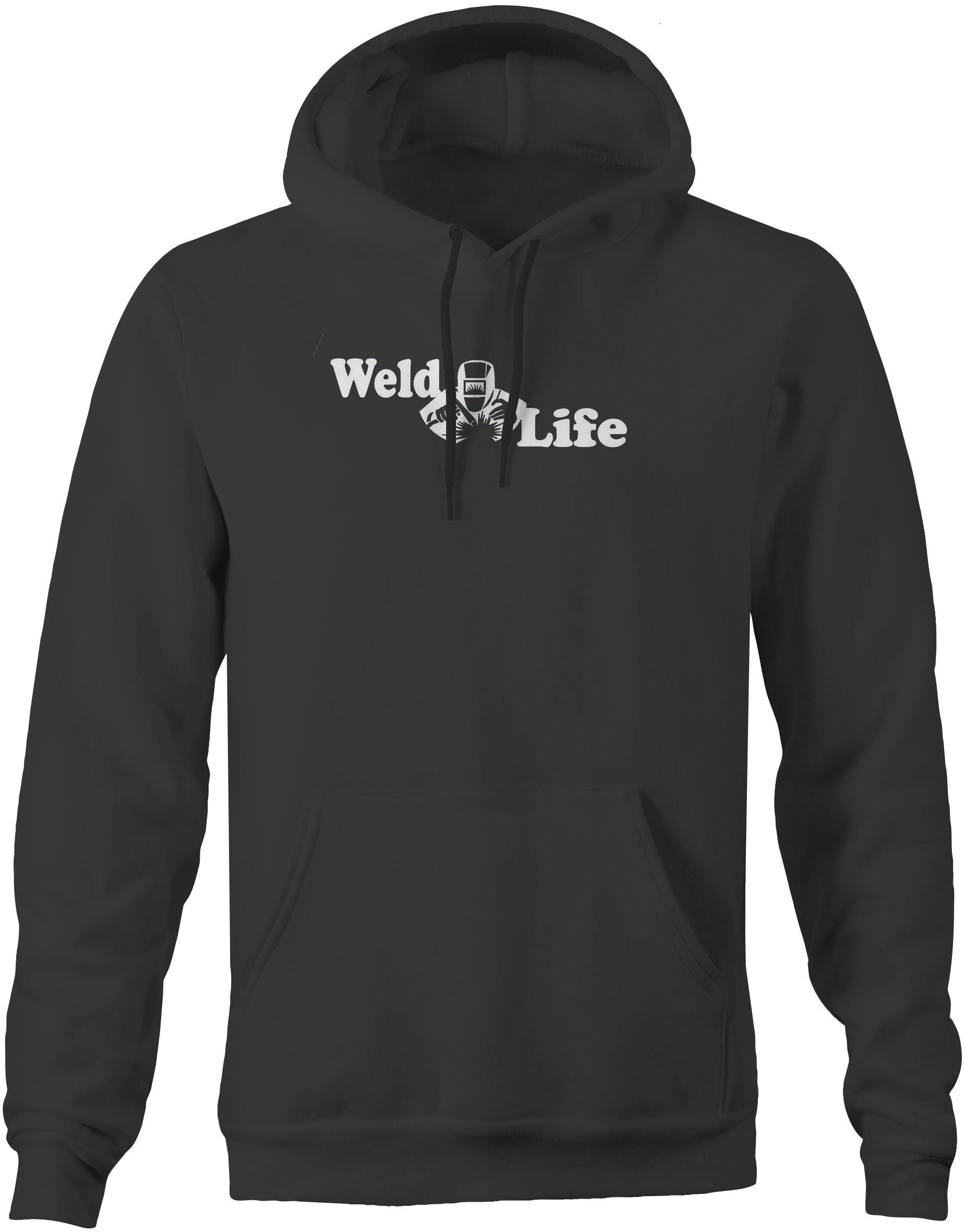 SweaT Shirt Weld Life Helmet Welding Sparks Mig Tig