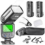Neewer® NW-565 Profi E-TTL Slave Flash Blitz Blitzgerät Set für Canon Rebel T5i T4i T3i T3 XS T2i T1i Xsi Xti, EOS 650D 600D 1100D 1000D 550D 500D 450D 400D 350D 300D 5D Mark III 5D Mark II 6D 5D 7D 60D, 50D DSLR Kamera-Inklusive: Neewer Auto-Focus Blitz + 2,4 GHz 3-IN-1 Wireless-Auslöser + 2 Kabel (C1-Kabel + C3-Kabel-Kabel) + Hart & Weich Blitz-Diffusoren + Objektivdeckelhalter