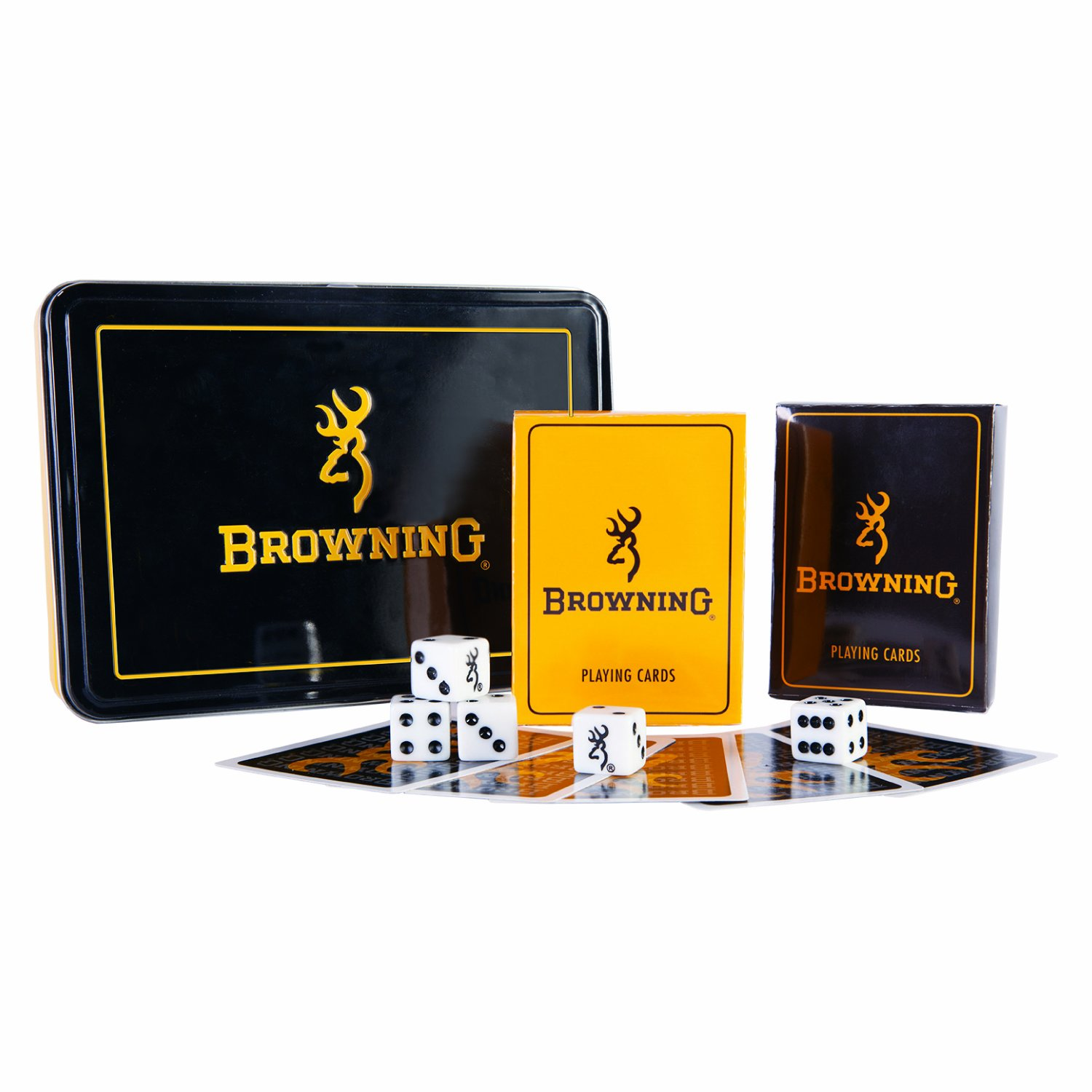 Browning Men's Buckmark Card And Dice Tin Set One Size Multi One Size
