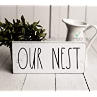 Rustic Our Nest Sign | Rustic Wood Sign | Farmhouse Sign | Inspired Rae Dunn Sign | Rustic Home Decor | Farmhouse Home Decor | French Farmhouse Decor | Shabby Chic Decor | Primitive Decor
