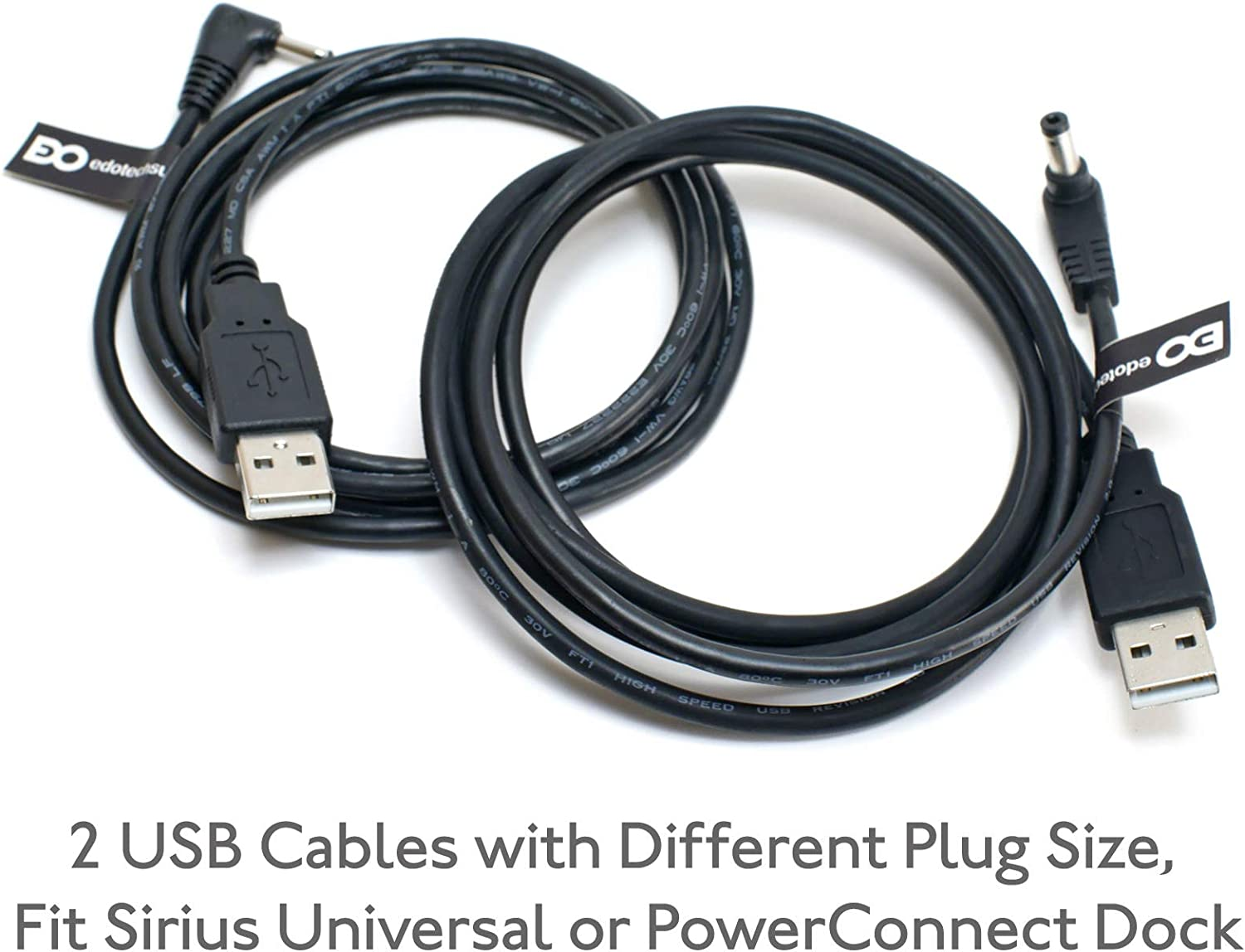 SIRIUS Sportster 4 power adapter USB Charger 90 degrees Cable Car or Home dock
