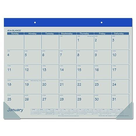 Amazon.com: Almohadilla con diseño de calendario ...