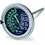 CDN IRM200-GLOW - ProAccurate Meat/Poultry Oven Thermometer-Extra Large Glow-in-the-Dark Dial-NSF Certified