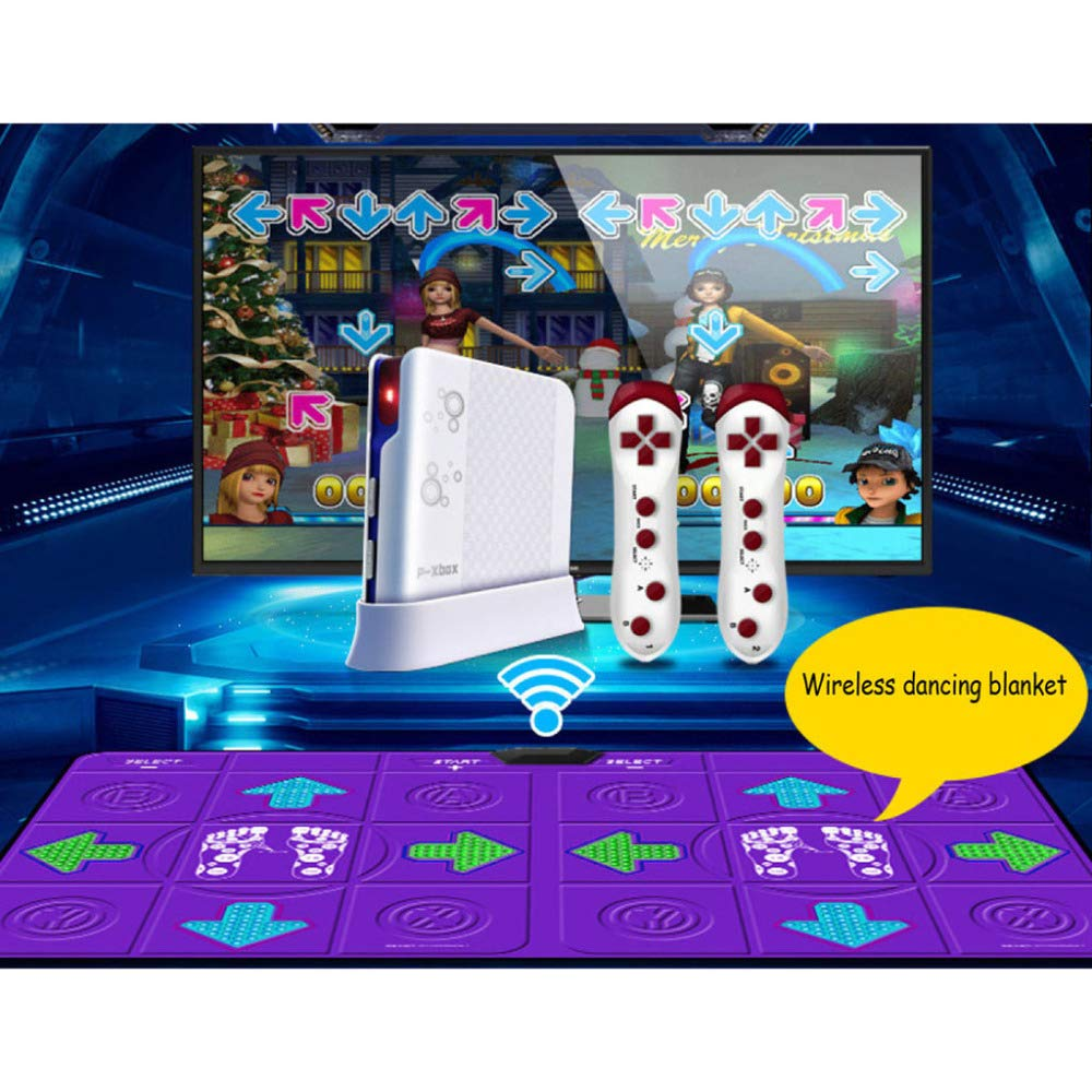 QXMEI Wireless Dance Mat Double Body Massage Light Thickening Dual Purpose,Purple by QXMEI (Image #1)