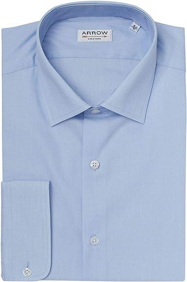 ARROW - Camisa Regular de Hilo a Hilo de Color Azul Claro ...