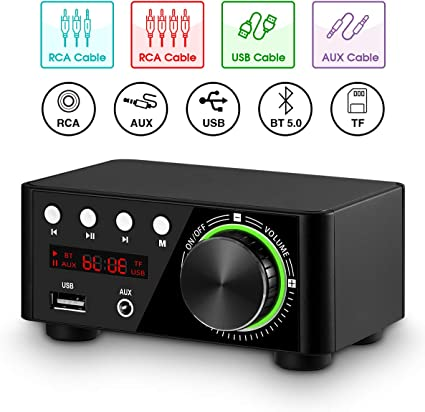 Nobsound Mini Bluetooth 5.0 Digital Power Amplifier HiFi Stereo Audio Amp 50W×2