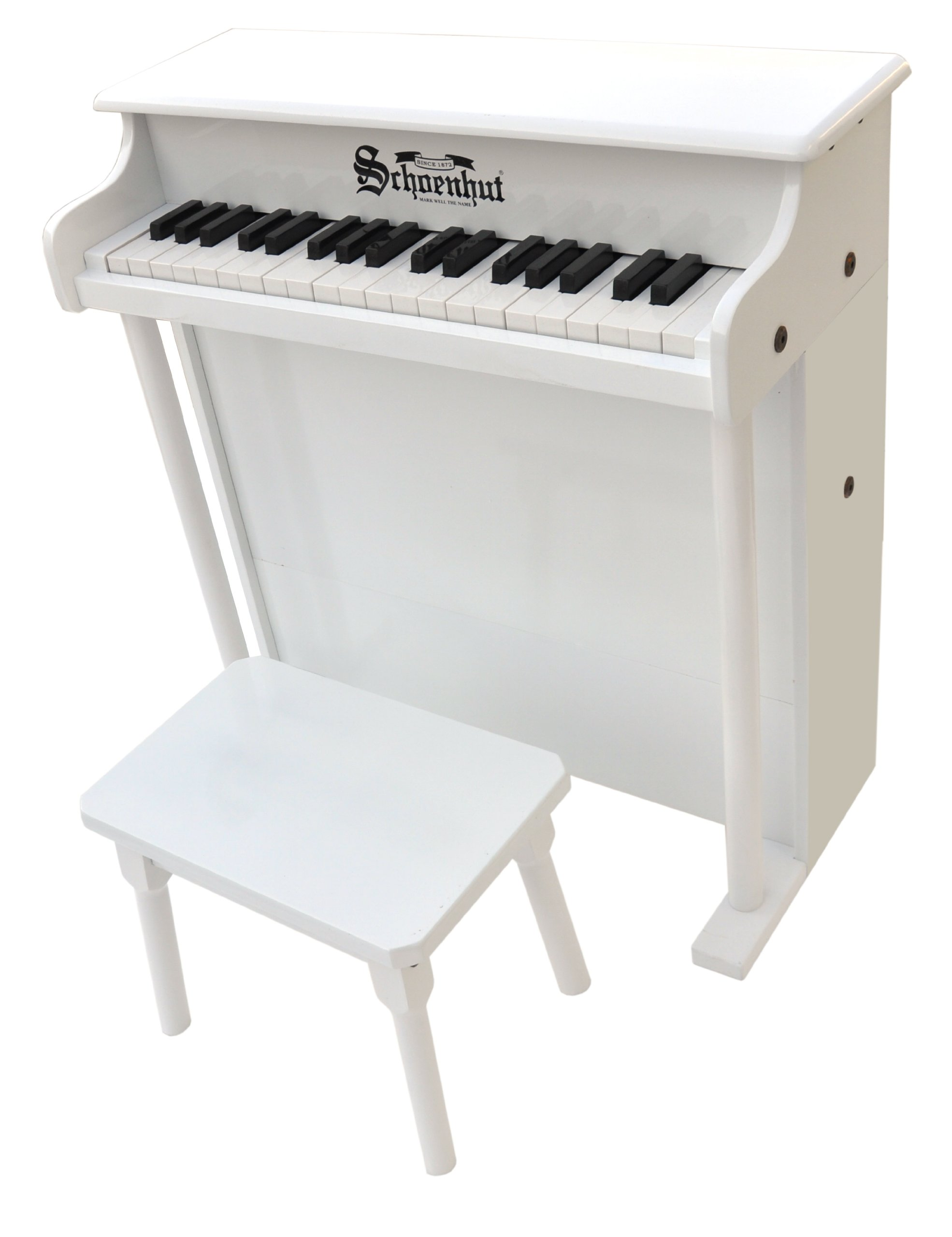 Schoenhut Learn-to-Play Upright Piano with 37-Keys and Patented Play-by-Color Tri-Play Learning System
