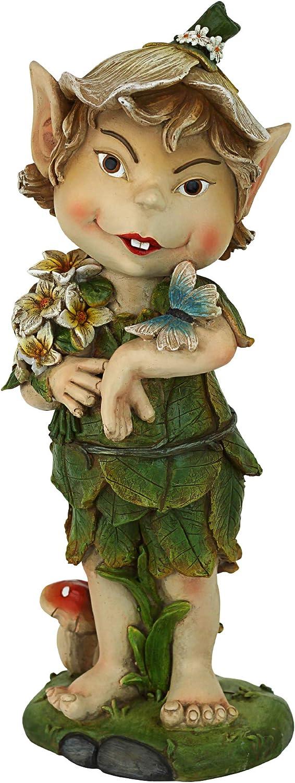 Garden Gnome Statue - Pixie Perry the Elfin Gnome - Lawn Gnome
