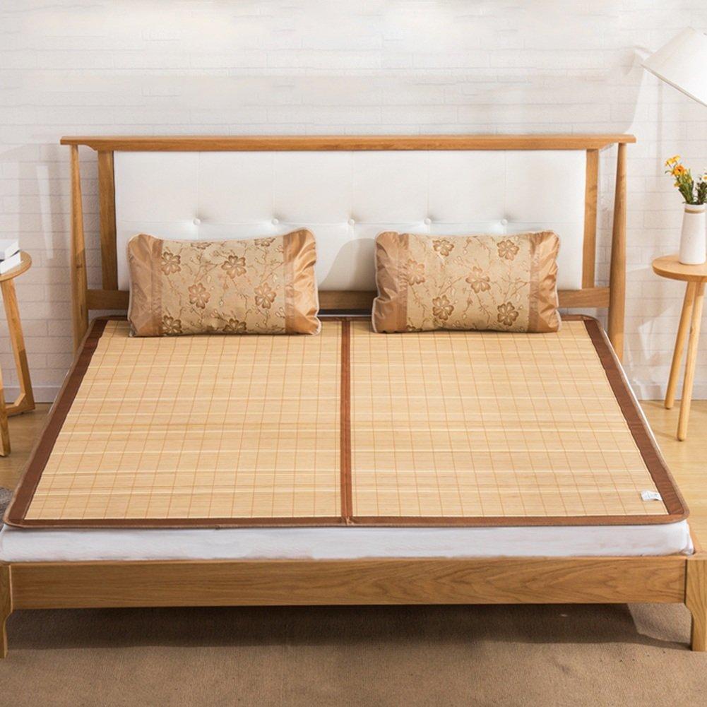 Jia He 夏用スリーピングマット クールマットレス、寝具ストローマット寝袋マットベッドマット両面利用可折り畳み式ホームベッドルーム学生寮、6サイズ @@ (サイズ さいず : 1.8×2.0m) B07R6BKDYZ  1.8×2.0m