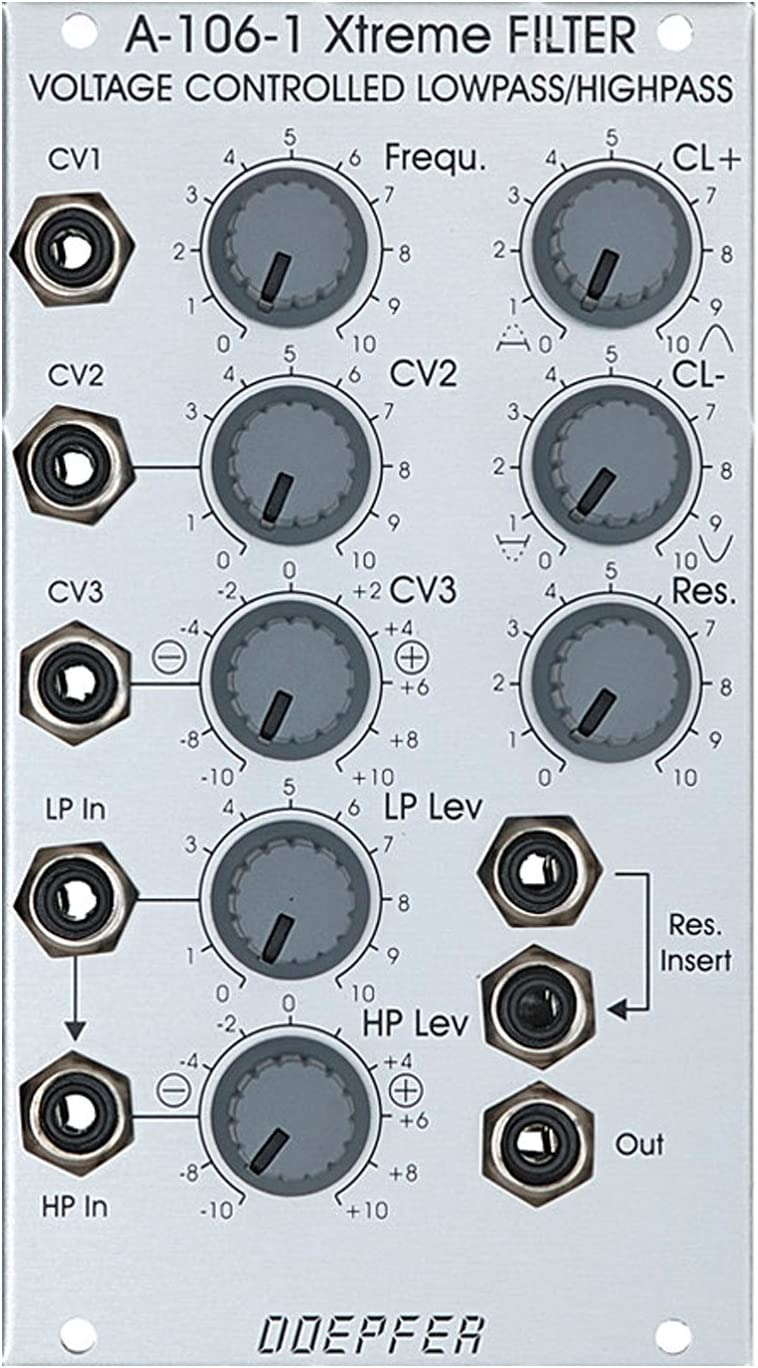 Doepfer MS20タイプエクストリームローパス/ハイパスフィルター A-106-1 MS20 Type VCF / Xtreme Low / Hi Pass Filter ユーロラック モジュラー シンセサイザー