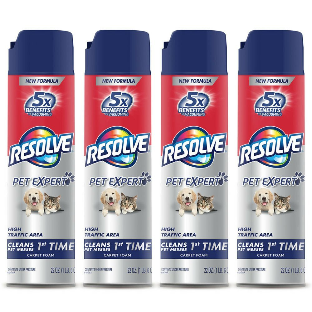 Resolve Pet Expert High Traffic, Carpet Foam, 22 oz (Pack of 4) by Resolve