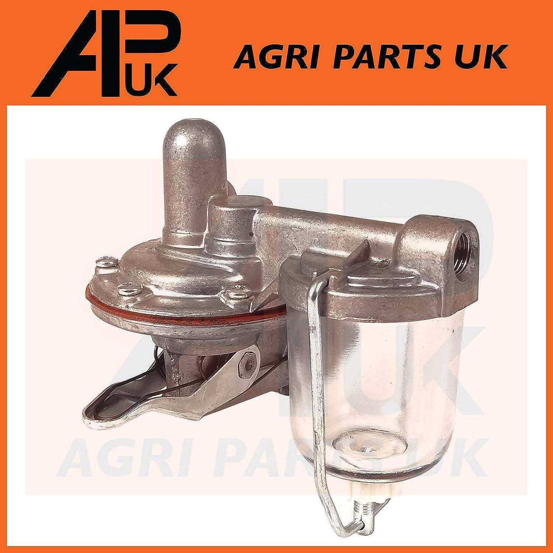 APUK Fuel Lift Pump compatible with Massey Ferguson 65 165 765 50 Tractor /& Perkins 4.203 Series Engine