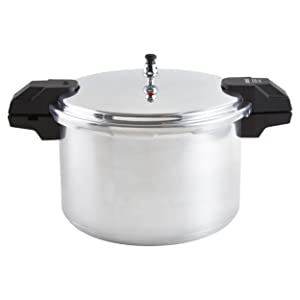 IMUSA USA A417-80807 16Qt Jumbo Stovetop Pressure Cooker, Silver