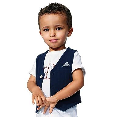 magasiner pour le luxe la clientèle d'abord Design moderne KIABI Gilet garçon de café coton piqué bleu noir 3A: Amazon ...