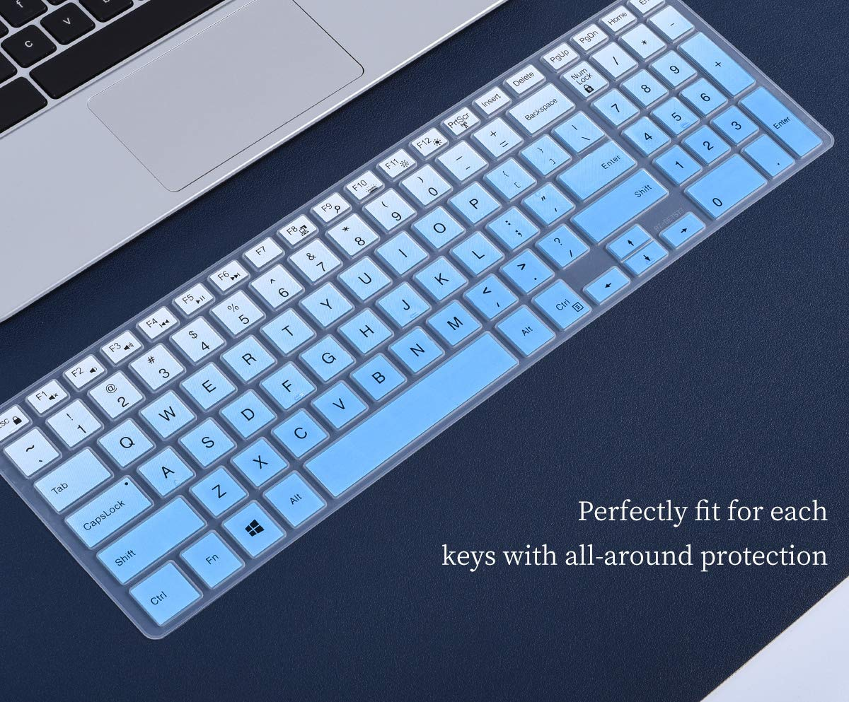Gradual Blue Dell Inspiron Keyboard Cover for 2019//2018 Dell Inspiron 15 3000 5000 7000 15.6 // Dell G3 G5 G7 15.6 Series // 17.3 DELL Inspiron 17 5000 Series Keyboard Skin with Numeric Keypad