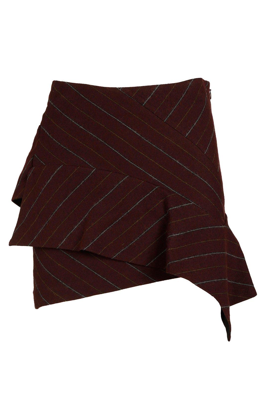 Isabel Marant Women's Skirt Mini Short kimura Bordeaux US Size 38 (US 6) JU069380BY