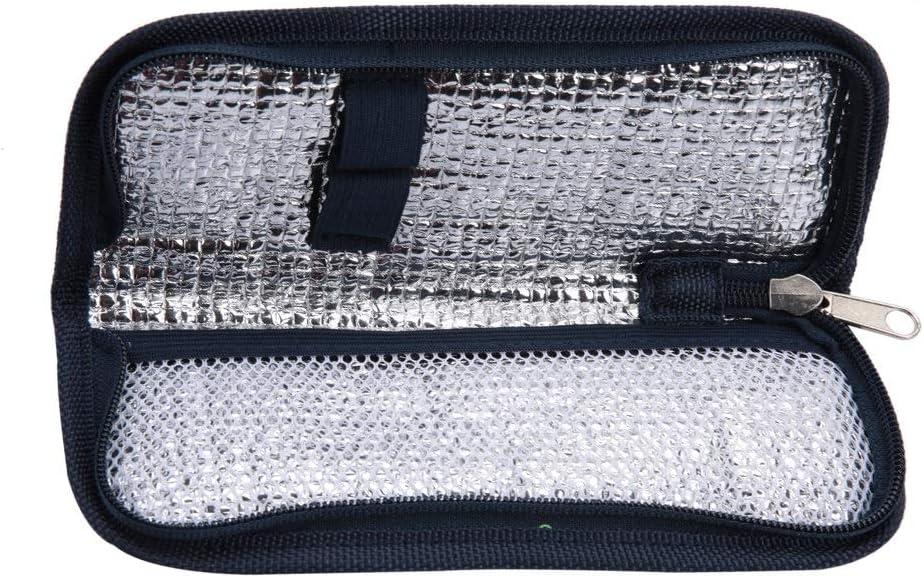 Caso de insulina - refrigerador de la insulina bolsa, caja de viaje portátil Organizador diabética: Amazon.es: Belleza