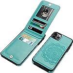 Vaburs iPhone 11 Case with Wallet Card Holder,Embossed Mandala Pattern Flower