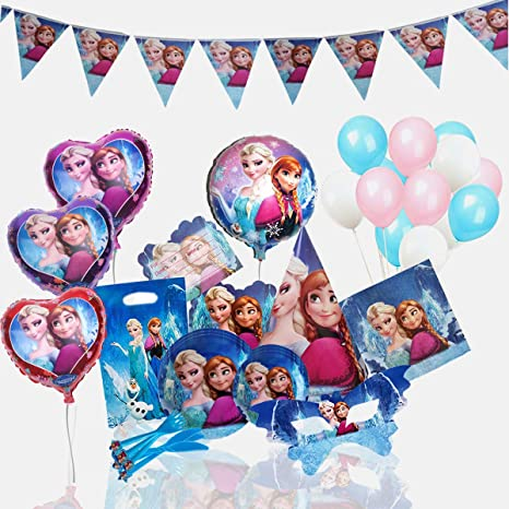 Disney Frozen Birthday Party Supplies Decoration For 12 Guests With Ultimate 150 Plus Items Including Forks