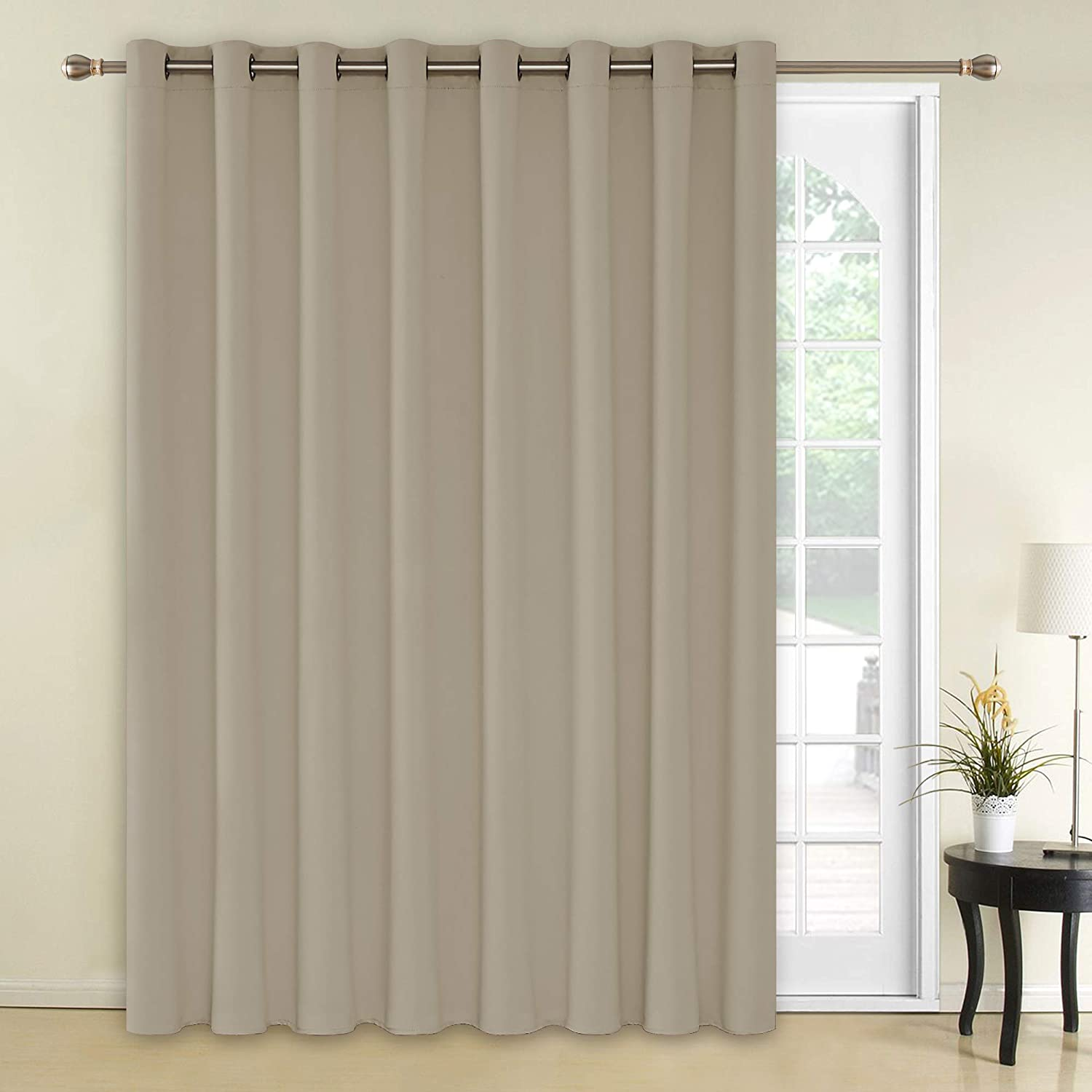 Amazoncom Deconovo Solid Grommet Blackout Curtains 1 Panel Wide