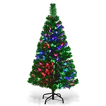 Image Unavailable. Image not available for. Color: Goplus 4 FT Artificial  PVC Christmas Tree ... - Amazon.com: Goplus 4 FT Artificial PVC Christmas Tree Pre-Lit Fiber
