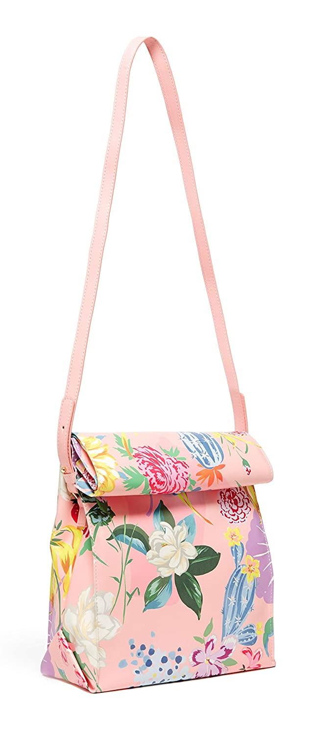 Womens Crossbody Insulated Lunch Bag Tote with Removable Strap Garden Party Ban.do Whats For Lunch