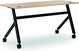 product image for HON Assemble Fixed Base Multi-Purpose Table, 60-Inch, Wheat/Black (HBMPT6024X)