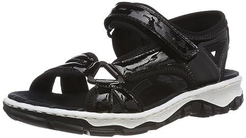 Womens 68879 Closed Toe Sandals Rieker 6BWOlWPYI